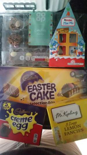 List of reductions on easter items @ coop instore. Eg: creme egg x5 £1 - 12 choc nests just 50p
