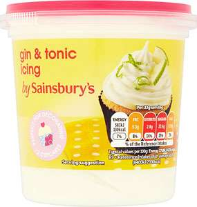 Gin and tonic icing was £2 now £1.50 for 400g tub @ Sainsburys