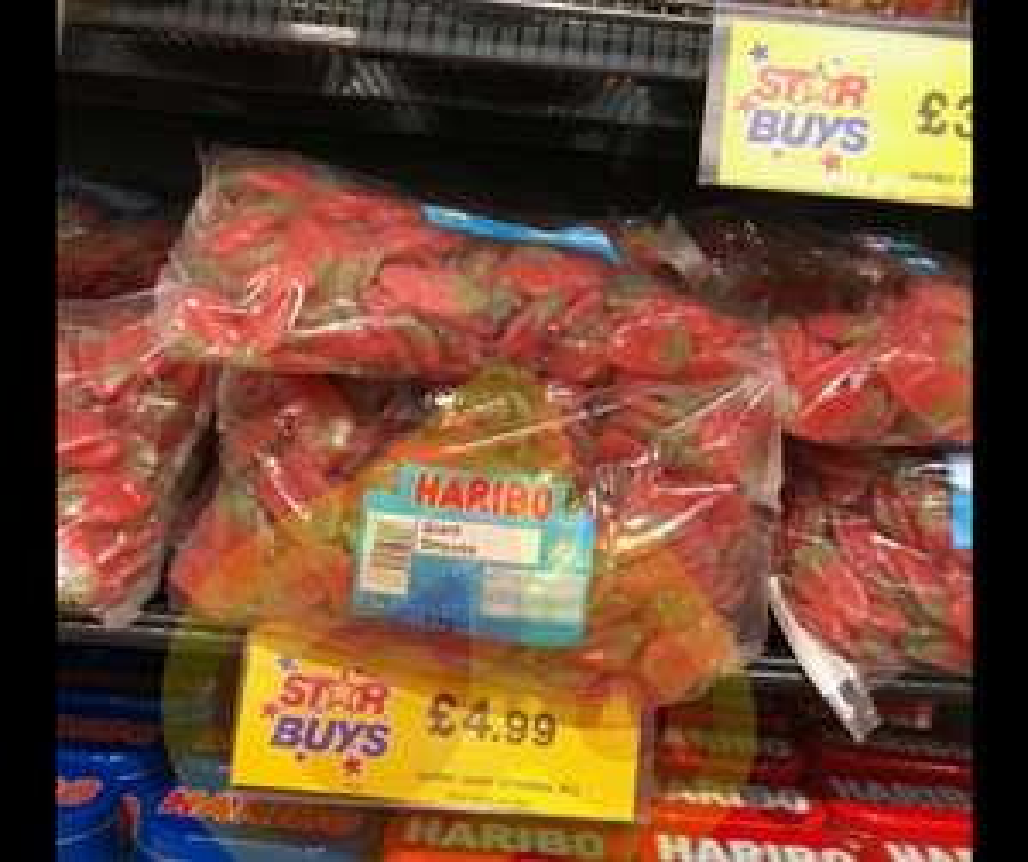 Haribo Giant Strawberries 3kg Bag £4.99 @ Home Bargains