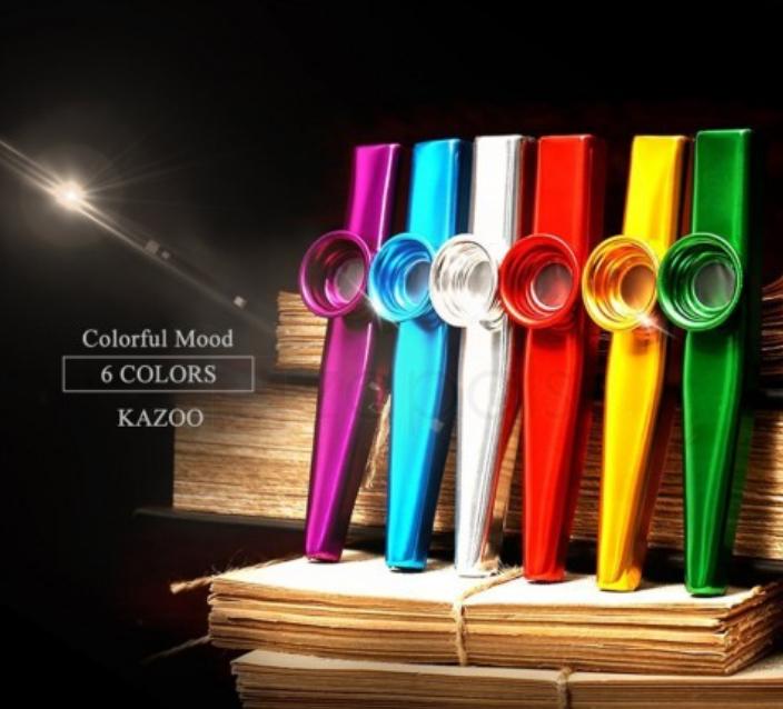 Aluminium Kazoo Whistle - Random Colour - 35p delivered at Zapals.com