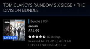 Tom Clancy's PS4 Bundle £24.99 @ PSN