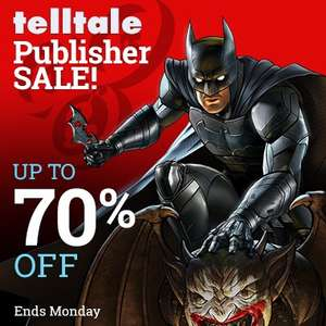 TellTale Publisher Sale at PlayStation PSN Store US - Batman, Walking Dead, Minecraft, Guardians of the Galaxy, The Wolf Amongst Us, Back to the Future, Tales from the Borderlands - Season passes and more