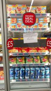 Frozen meal deal £5 - 2 Crispy chicken, 12 chicken dippers, 4 beef burgers, Alphabites, Mixed vegetables and Oreo ice cream @ Co-op