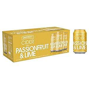 Smirnoff Passionfruit & Lime Cider 330ml x 10 at £3.99 Londis