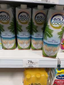 100% pure coconut water 1L. £0.79 @ HomeBargains
