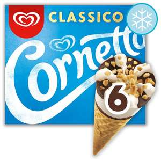 Cornetto Ice cream cones 6x pack - 1/2 price was £3 now £1.50 @ Tesco