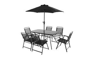 BAHAMA METAL 6 SEATER DINING SET £97 @ B&Q