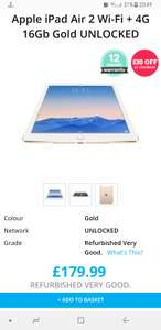 Apple iPad air 2 16gb cellular unlocked refurb - £149.99 @ Music Magpie