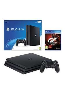 PlayStation 4 Pro Pro Console with Gran Turismo Sport plus Optional Extra DualShock Controller and/or 12 Months PlayStation Network - £349.99 @ Very