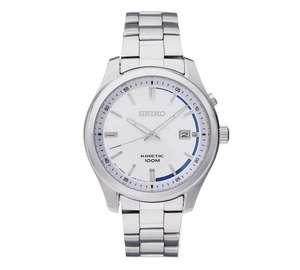 Seiko Men's Kinetic Silver Blue Dial Watch £89.99 @ Argos RRP: £179.99