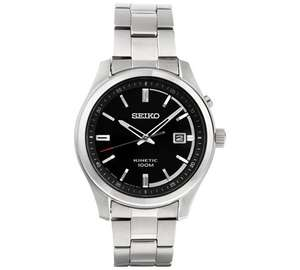 Seiko Men's Kinetic Black Dial Watch £90.99 @ Argos