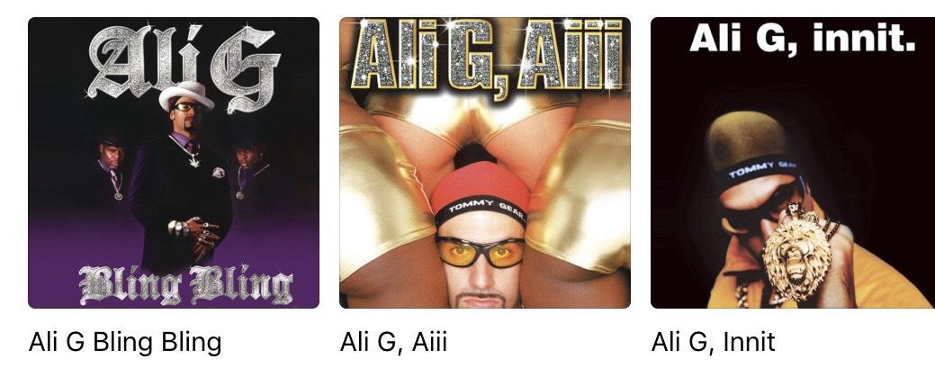 Ali G - 99p on  itunes