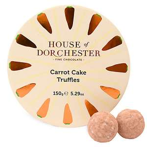 House of Dorchester Carrot Cake Truffles for £5 + £2 c&c / £3.50 delivery @ John Lewis