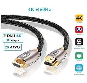 4K HDMI Cable 1.5M  £5.05 (Prime) / £9.04 (non Prime)  Sold by Hd Zone and Fulfilled by Amazon - lightning deal