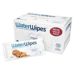 Waterwipes Sensitive Baby Wipes x 12 -  £20 at Amazon (£1.66 a pack) or £19 s&s