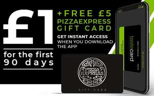 £5 pizza express gift card when signed up for a 90 day trial of taste card