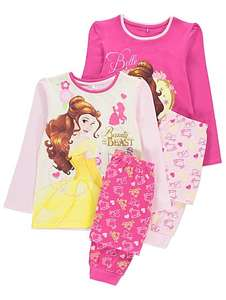 2 pairs Disney Princess Belle pyjamas age 2-3 yrs £6,backpack & pencil case £5 @ Asda