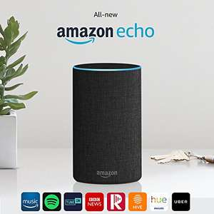 Amazon Echo (2nd generation) - 2 for £91.98 - Almost BOGOF! Offer stack - 2 for £25 + Student + Smart Home. Possibly account specific. Similar offers on other models.