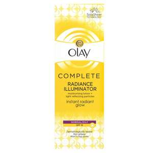 Olay Complete Care Radiance Fluid Moisturiser 75ml for £2 @ Morrisons