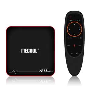 Mecool M8S PRO W 2.4G with Andriod TV OS Support Voice Control TV Box  -  UK PLUG ( 2.4G VOICE CONTROL )  BLACK £29.20 @ Gearbest