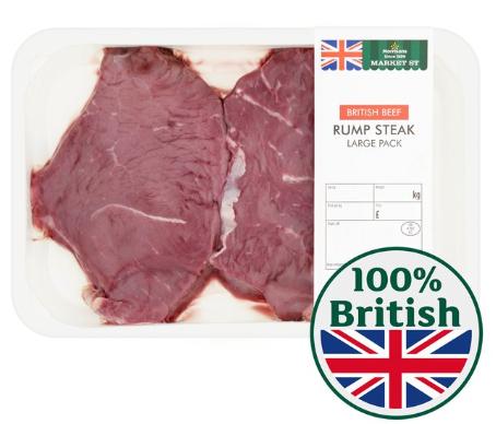 British Rump Steak - Large £4.50 at Morrisons
