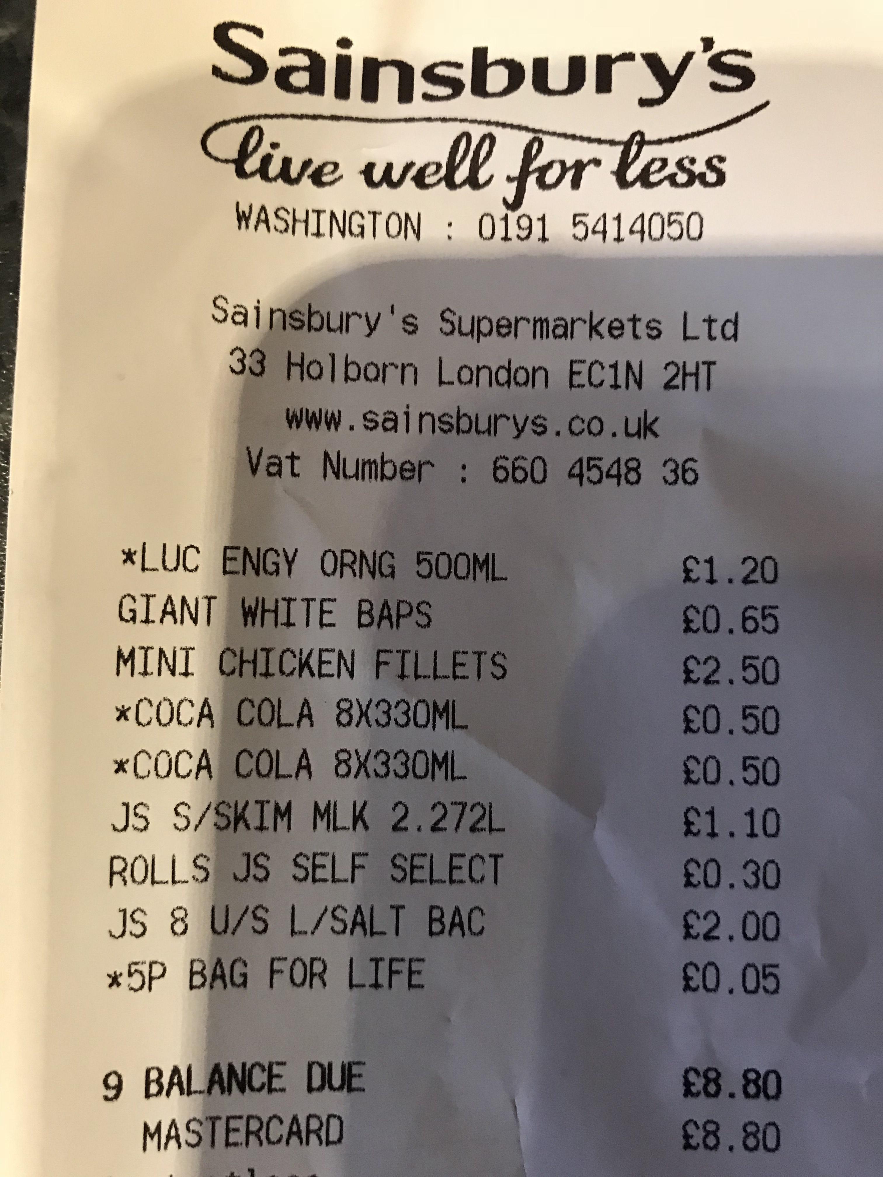 8 x Cans Coke 50p instore at Sainsburys -  Washington