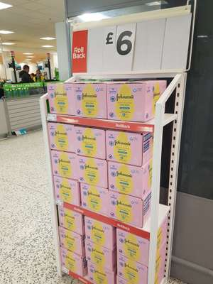 12 pack johnsons baby wipes £6 @ Asda