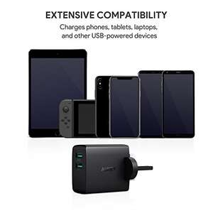 AUKEY USB Wall Charger 2 Ports with 24W 4.8A Mains Charger - £1.49 - Yueying/FBA