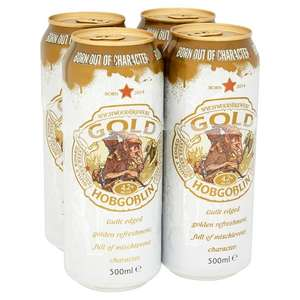 Reduced to clear beer at Tesco instore at around £1.48/litre e.g 4 x 500ml Hobgoblin Gold £2.93