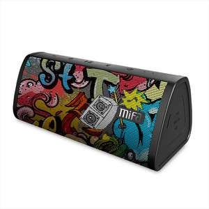 MIFA Black-Graffiti Bluetooth Speaker IPX5 Waterproof Bluetooth 4.2 Wireless Speaker Micro SD Built-in Mic Stereo Sound TWS £19.03 @ Aliexpress / mifa Official Store