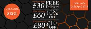 Spend £30 and get Free Delivery Spend £60 and Get 10% & £10 off £80 with code @ Scotts of Stow
