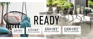 £20 off £60, £35 off £100, £60 off £150, £100 off £250 Spend on Home & Garden with Code @ La Redoute