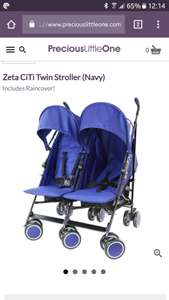 Zeta Citi Twin stroller down from £160 - £81.95 FREE delivery @ Precious little one