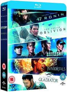 47 Ronin/Oblivion/Battleship/Immortals/Gladiator [Blu-ray] @ Zoom £8