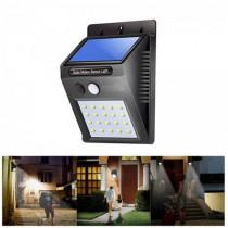 Solar Powered Waterproof 20 LED Motion Sensor Wall Light for Patio Garden - Black £4.25 Delivered @ Rosegal