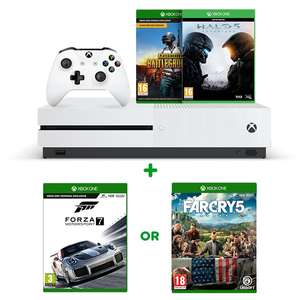 Xbox One S 1TB PUBG Bundle, Halo 5 & Select game (Far Cry 5, Sea of thieves or Forza 7) Free C&C £229.99 @ Smyths toys