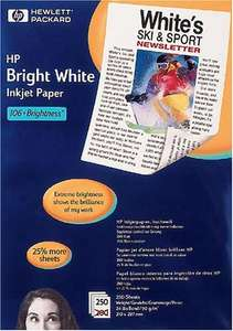 HP A4 90 gsm Paper - Bright White (Pack of 5 Reams) £9.20 @ Amazon - Prime exclusive - (Temporarily out of stock)