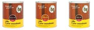 5 Year Gloss Woodstain Antique Pine / Natural Teak / Rustic Oak 750ml for £2.50 @ Wilko