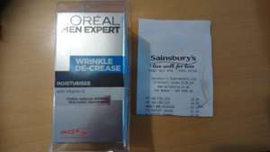 L'Oreal men expert wrinkle decrease cream - 20p instore @ Sainsbury's