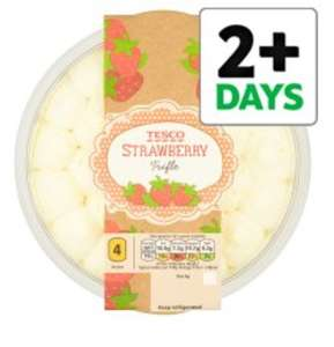 Tesco Strawberry Trifle 600G £1.25 (Now Half Price)