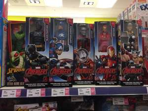 marvel titan hero's / villans series avengers figures now £6.50 Black Panther, Thor, Iron Man @ The Entertainer