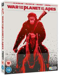 War for the Planet of the Apes 4K/3D/2D Steelbook £14.99/2 for £25 @ HMV