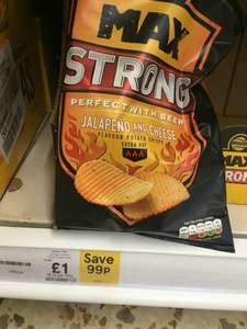 Walkers Max strong £1 instore @ Tescos