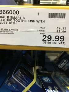 Oral b electric toothbrush Smart 6 @ Costco warehouse - £35.98