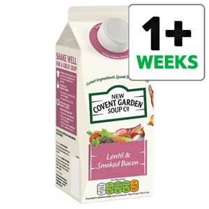 New Covent Garden Lentil And Smoked Bacon Soup 700G - £1.17 @ Tesco