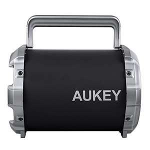 AUKEY Bluetooth Speaker, Portable Wireless Speaker with Adjustable Bass, FM Radio, 8 Hours Playtime - £18.60 (Redeem 70% off promotion) @ Sold by yueying and Fulfilled by Amazon