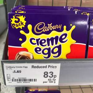 Creme egg 5 Pack £0.83p at ASDA in Preston (Fullwood) think it may be National