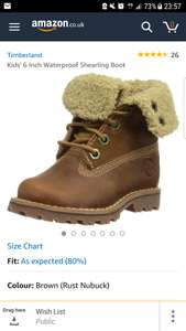 Timberland Shearling Women's Boots £31.19 Amazon