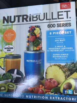 Nutribullet 600 8-piece set Blue for £39 @ tesco instore