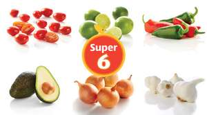 Aldi Super 6 Deals 5th-11th April - Onions 39p, Mixed Chillies 39p, 4 Garlic 39p, 5 Limes 79p 1kg, Avocado 79p, Baby Plum Tomatoes 69p, Wagyu Beef Meetballs £3.49, Pork Fillet Medallions £2.29